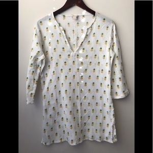 J.CREW Pineapple 🍍 Indian Style Shirt size  XS